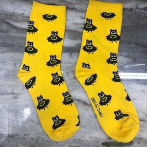 Yellow Batman DC Socks